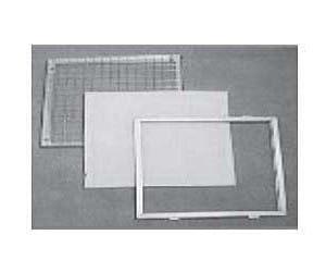 Filtro marco metal reutilizable plano eficacia G3 G4 M5 / Filtro marco metal recambiable plisado eficacia / Filtro con cruceta para recarga / Filtro con rejilla de protección recargable
